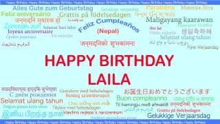 LailaLayla  like Layla   Languages Idiomas - Happy Birthday