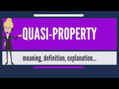 What is QUASI-PROPERTY? What does QUASI PROPERTY mean? QUASI PROPERTY meaning & explanation
