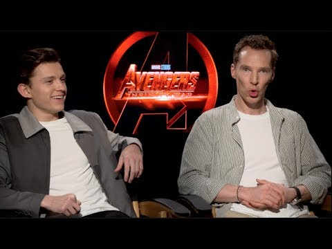 AVENGERS INFINITY WARS: Interviews: Tom Holland and Benedict Cumberbatch