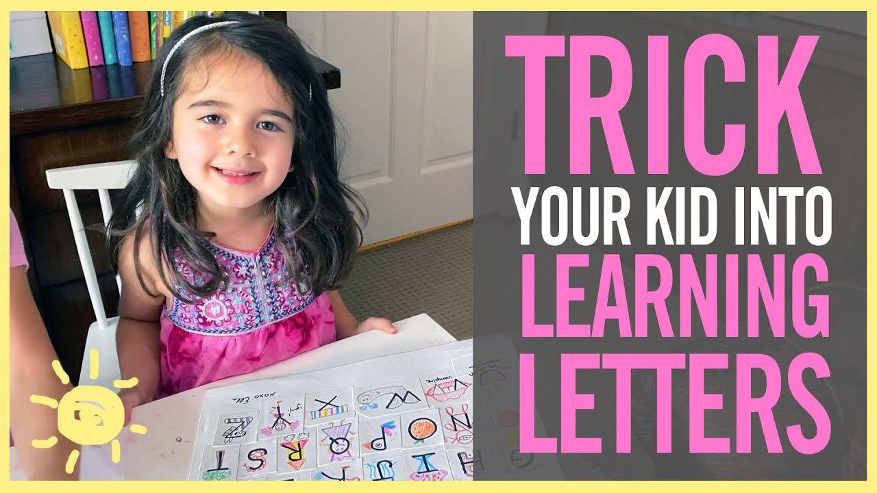 3 Ways to Trick Your Kid Into LEARNING LETTERS!
