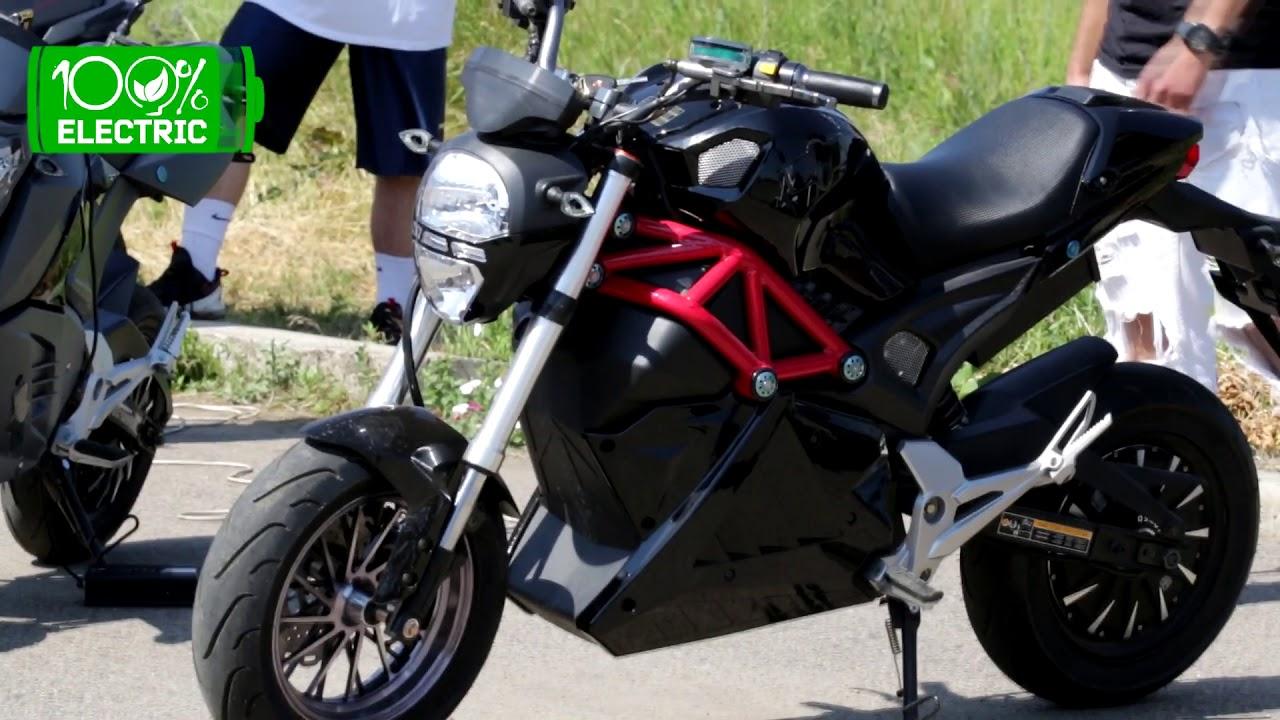 Электрический мотоцикл с компресором =) - YouTube
