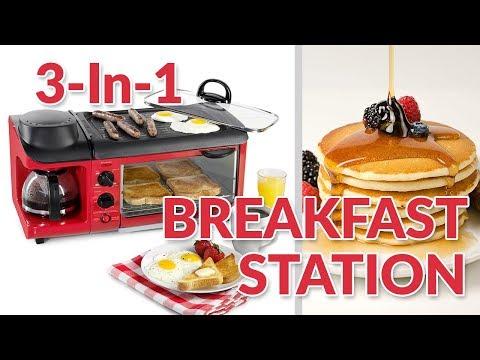 BSET300RETRORED | '50s-Style 3-In-1 Breakfast Station