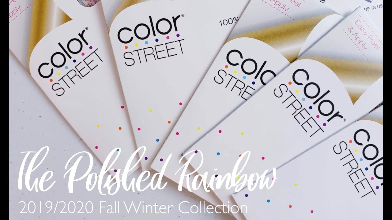 Color Street Winter 2020.2019 2020 Fall Winter Color Street Nail Strips With The Polished Rainbow