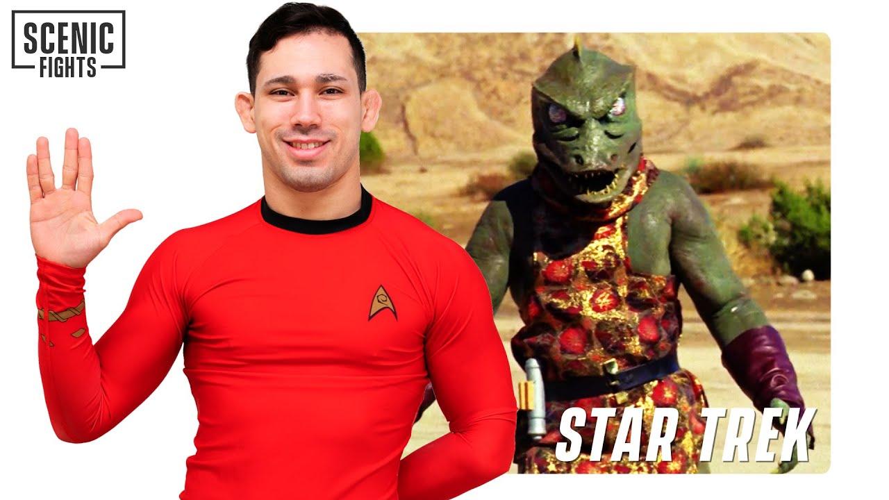 MMA Fighter Breaks Down Star Trek Captain Kirk vs Gorn | Scenic Fights