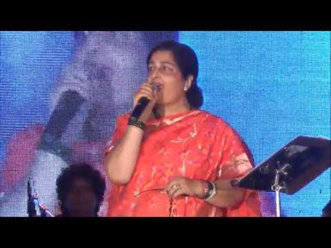 Padma shree Anuradha Paudwal ji live in concert,,,,very beautiful performance