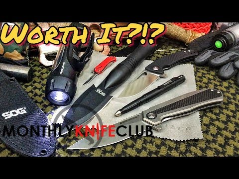 Ultimate Knife Box Monthly Knife Club Aug 2017 Youtube