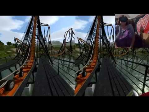 Grandma tries Roller Coaster Simulator with Oculus Rift! 'IT'S FALLING!'