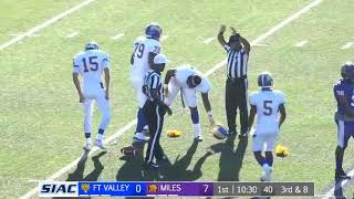 2018 SIAC Football: Fort Valley State Wildcats at Miles College Golden Bears