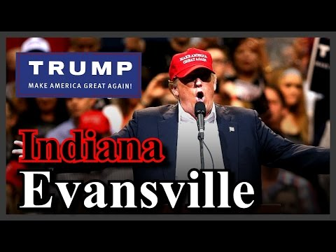 LIVE Donald Trump Evansville Indiana Rally Old National Events Plaza SPEECH HD STREAM (4-28-16) ✔