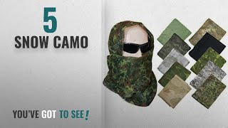 Top 10 Snow Camo  2018 : Tactical Camo Pattern Military Netting Scarf - Army Style Scrim Net Patrol