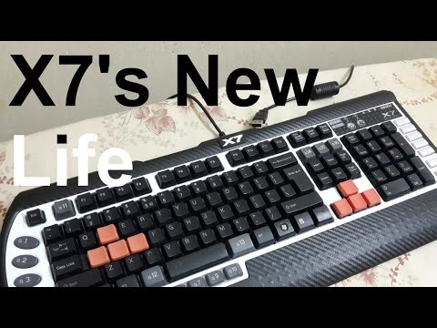 A4-tech X7 G800V gaming keyboard MOD # new life