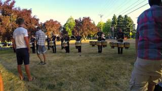 Oregon Crusaders Drumline 2015 - Lot Warmup 7/2 - Midnight Garden