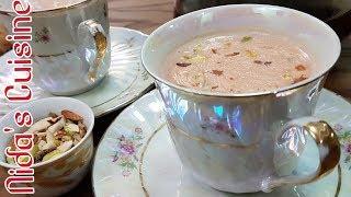 Kashmiri chai without baking soda - Pink tea recipe - Mama