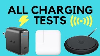 iPhone X Charging Speeds COMPARED // Testing iPhone X Charge // 5W + 7.5W Wireless + 29W FAST CHARGE