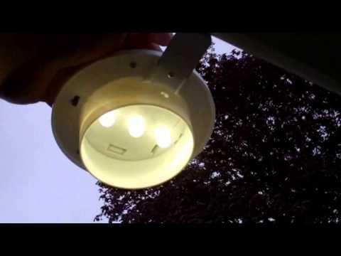 Solar Gutter Light Youtube