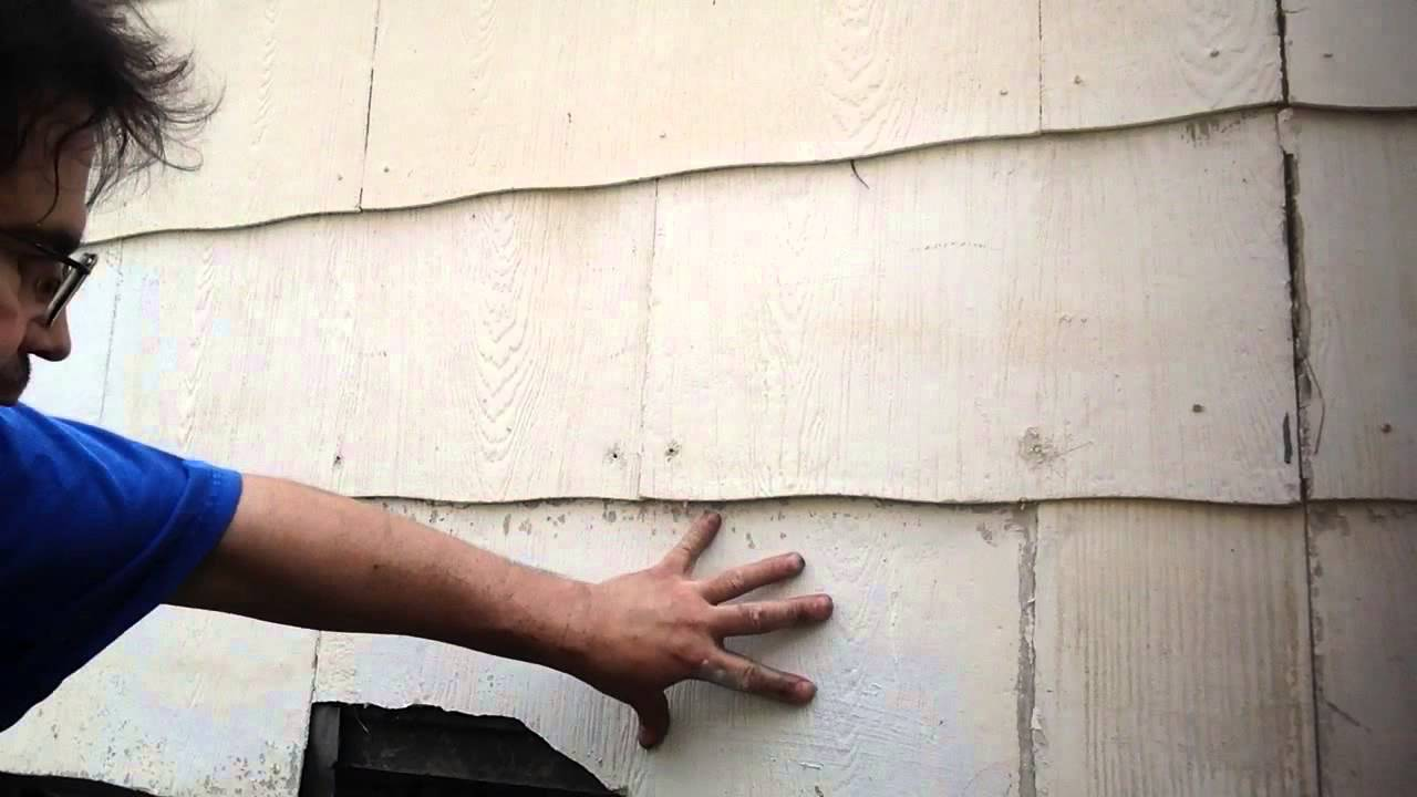How to remove asbestos siding  YouTube