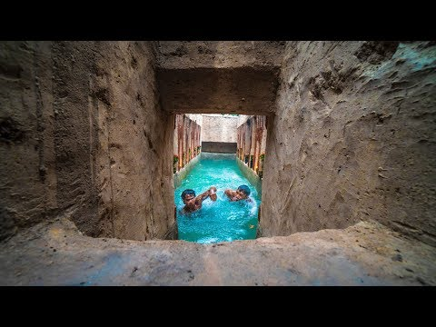 Amazing Creative Construction Ideas | Dig To Builds The Most Swimming Pool In Deep Forest