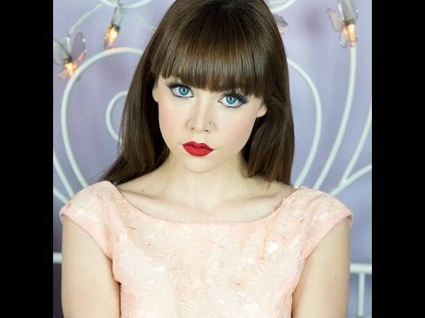 Model Demonstrates How To Get The 'porcelain Doll' Make-up Look