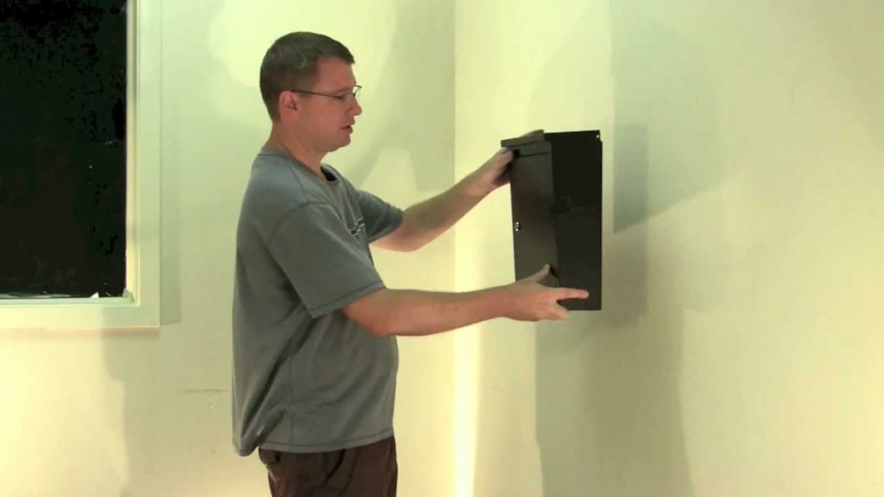 Black Locking Mailbox or Locking Drop Box - Soho Mailbox 2480B - YouTube