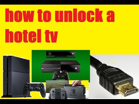 how to unlock a hotel tv/remove hotel mode, use HDMI on hotel tv