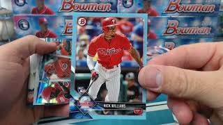 2018 Bowman Baseball 5 Case Break #1 (4 Jumbo 1 Hobby) Part 1