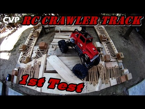 cvp rc crawler track 1st test with crawler tiger by tt. Black Bedroom Furniture Sets. Home Design Ideas
