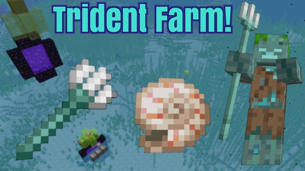 minecraft drowned farm java 1.14