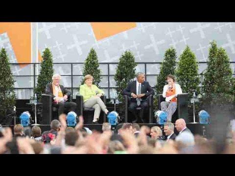 Merkel y Obama reivindican su gestión y llaman al activismo democrático