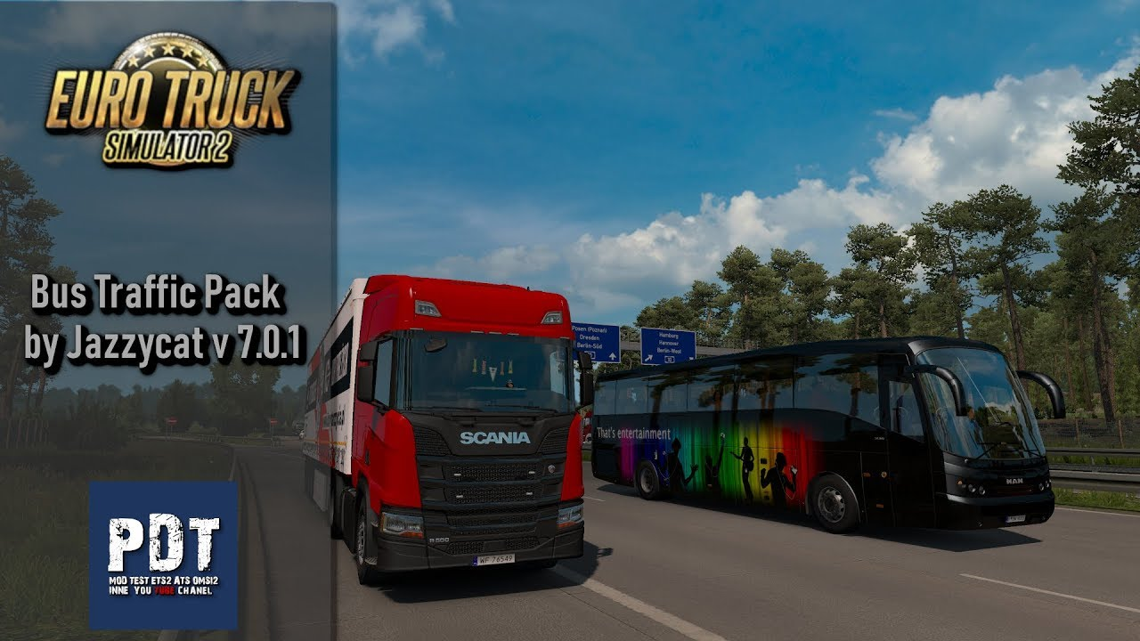 Bus Traffic Pack by Jazzycat v 7 0 1 | ETS 2 mods