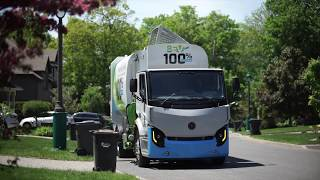 100 % electric automated collection truck