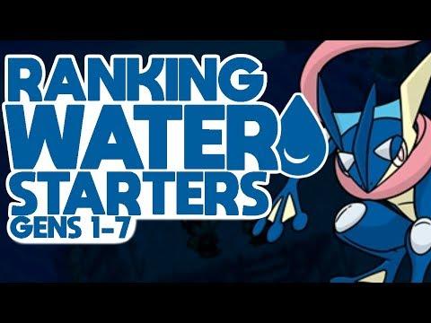 Ranking All Water Starters (Gen 1-7)