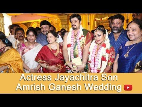 Actress Jayachitra Son | Actor Cum Music Director Amrish Ganesh Wedding- Pakkatv