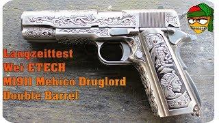 Langzeit Wei-ETech M1911 Mehico Druglord Double Barrel Review Mango Airsoft