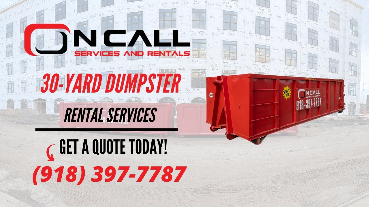 Download 30-Yard Roll-Off Dumpster | OnCall Services & Rentals