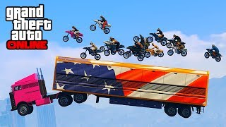 GUNRUNNING DLC! ROCKET BIKE GROUPS STUNTS! || GTA 5 Online || PC (Funny Moments)
