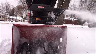 Snow blowing sidewalks and talking about why I charge the prices I do