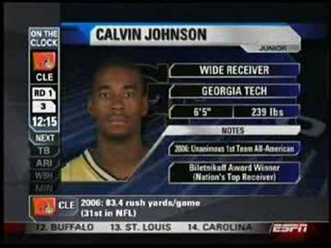 Calvin Johnson Gets Drafted By The Lions
