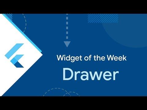 Drawer (Flutter Widget of the Week)