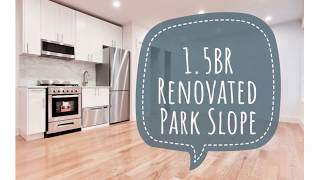 Amazing Renovated 1.5 Bedroom Apartment in Park Slope Neighborhood Brooklyn NYC Video Tour🎥🔑