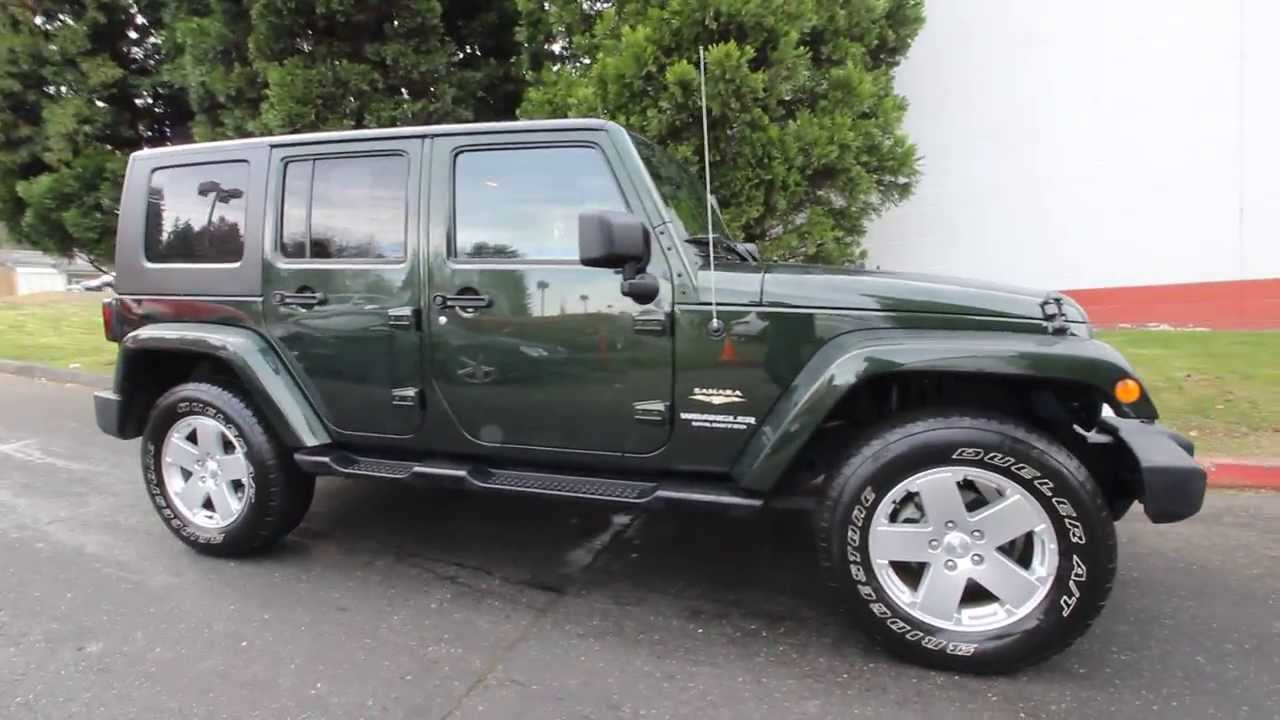2010 Jeep Wrangler Unlimited Sahara | AL215217 | Natural Green | Seattle |  Redmond