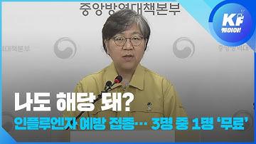 코로나19로 인플루엔자 예방 접종 확대…3명 중 1명 '무료' / KBS뉴스(News)