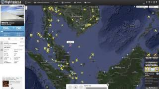 Malaysia Airlines Flight MH370 crash. last known position.