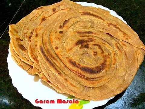 Gothambu Parotta / Kerala Whole Wheat Parotta