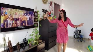Mamta Sachdeva Dancing fun With Aahan Sharma