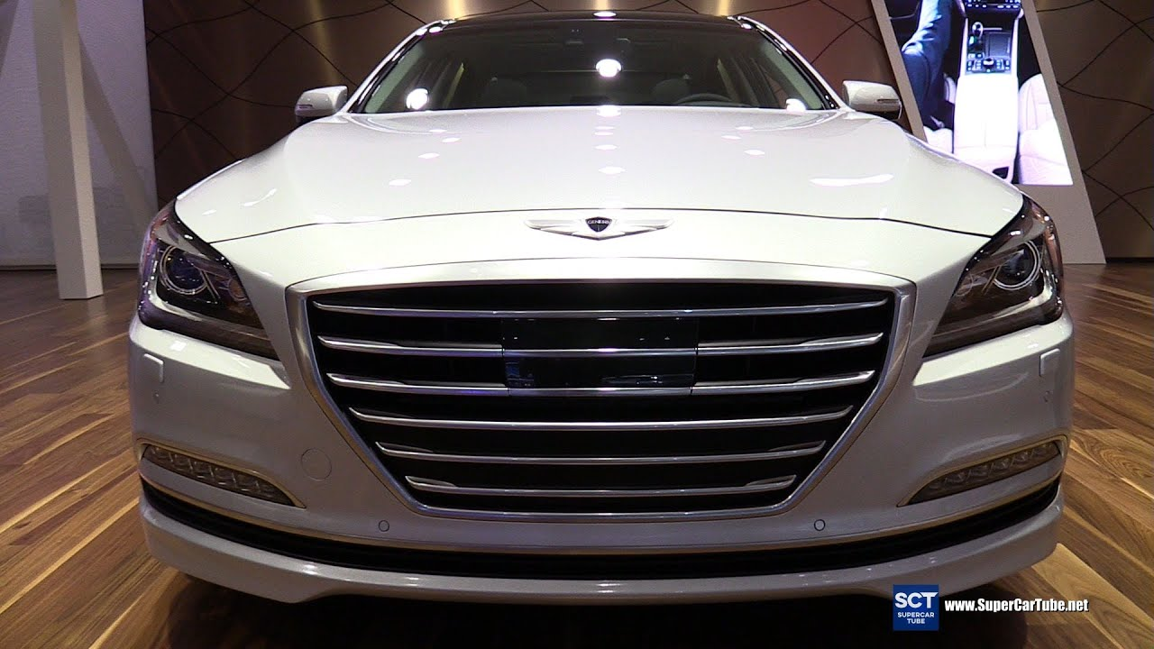 2016 Hyundai Genesis 3.8 HTRAC   Exterior And Interior Walkaround   2015 LA  Auto Show   YouTube