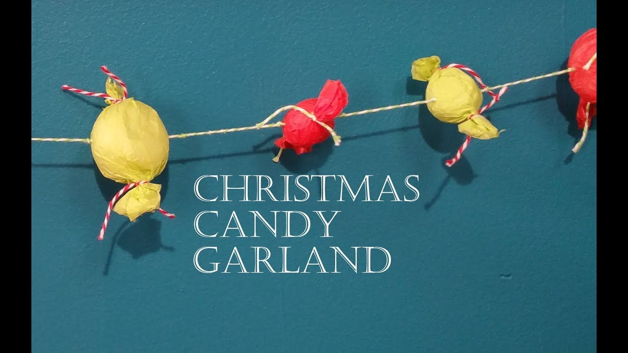 Make A Candy Ornament Garland For Christmas