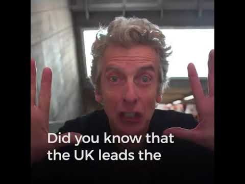Peter Capaldi for Offshore Wind Power in Westminster Tube via Greenpeace