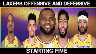 Los Angeles Lakers Final Starting Five