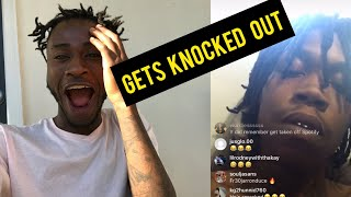 NWM Cee Murda gets knocked out on live