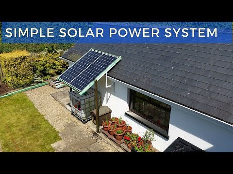 My Simple Solar Power System